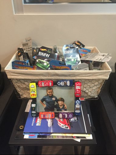 Gift basket with picture of girl and boy